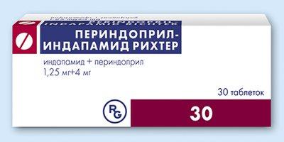 ПЕРИНДОПРИЛ-ИНДАПАМИД РИХТЕР, таблетки