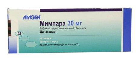 МИМПАРА, таблетки