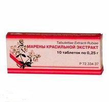 МАРЕНЫ КРАСИЛЬНОЙ ЭКСТРАКТ, таблетки