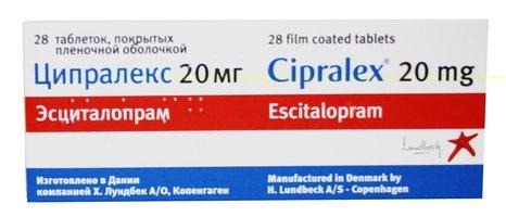 ЦИПРАЛЕКС, таблетки