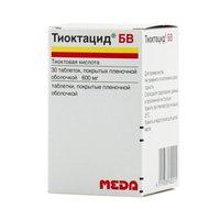 ТИОКТАЦИД БВ, таблетки
