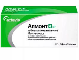 АЛМОНТ, таблетки