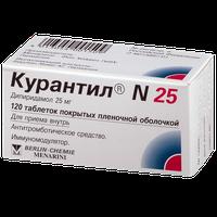 КУРАНТИЛ N 25, таблетки