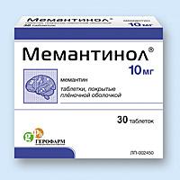 МЕМАНТИНОЛ, таблетки
