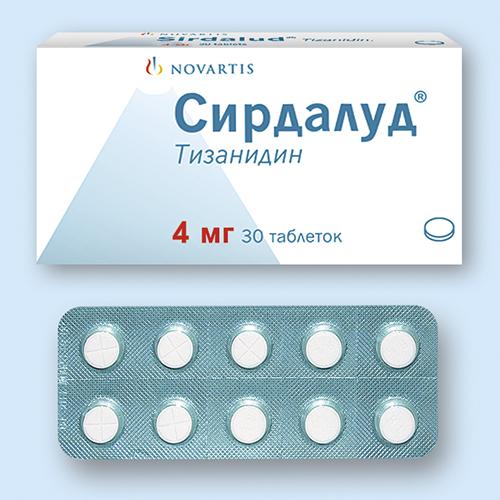 СИРДАЛУД, таблетки