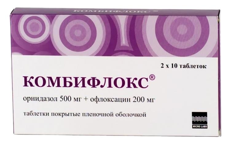 КОМБИФЛОКС, таблетки