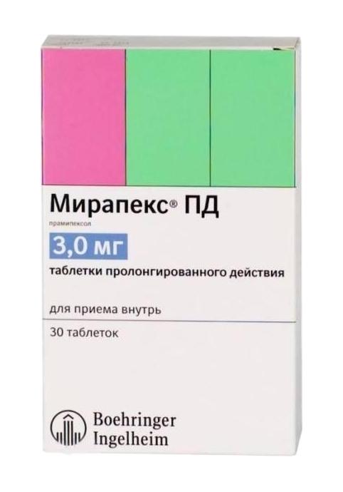 МИРАПЕКС ПД, таблетки