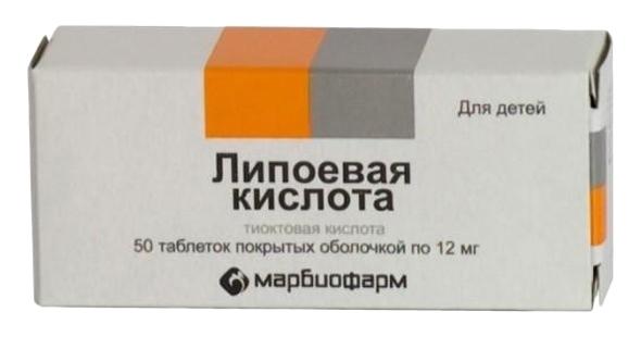 ЛИПОЕВАЯ КИСЛОТА, таблетки