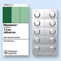 Лекарство мирапекс инструкция